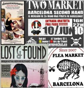 Mercadillos de segunda mano: reciclaje vintage en Barcelona